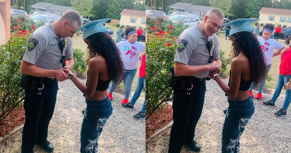 Neighbour Calls Cops on Partying Graduate, Police Officer Arrives and Ask to Pray for Her