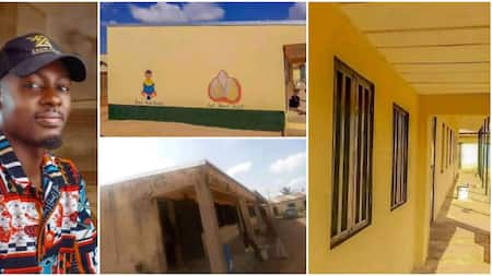 Man Takes Action Instead of Complaining, Paints Dilapidated Gov't School and Shares Fine Photos