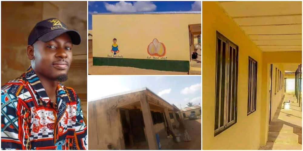Man paints dilapidated government school in his community, its new look wow many