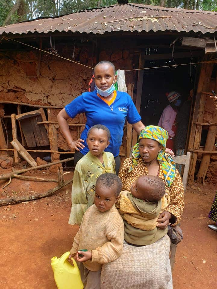 Generous Kenyans build 2-bedroom house for Nyeri family who lived in shanty within 21 days