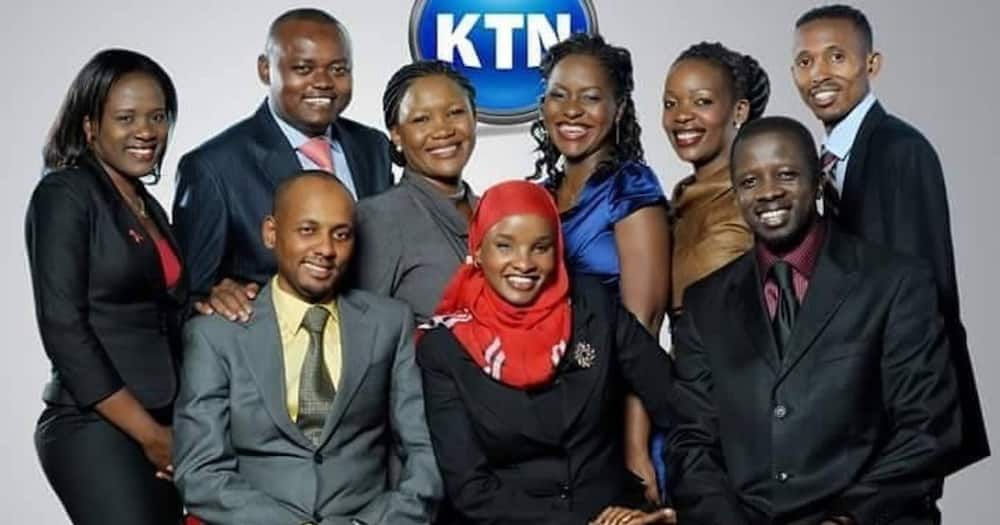 Lulu Hassan with veteran journalists while at KTN.