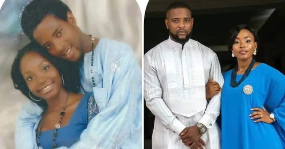 Adorable couple who dated for 10 years before marriage share before and after photos