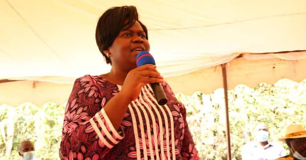Gladys Wanga speaking at a past event.