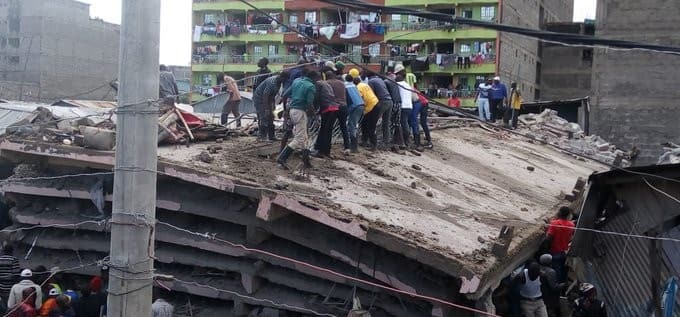 Several feared trapped after 6-storey building collapses in Tassia