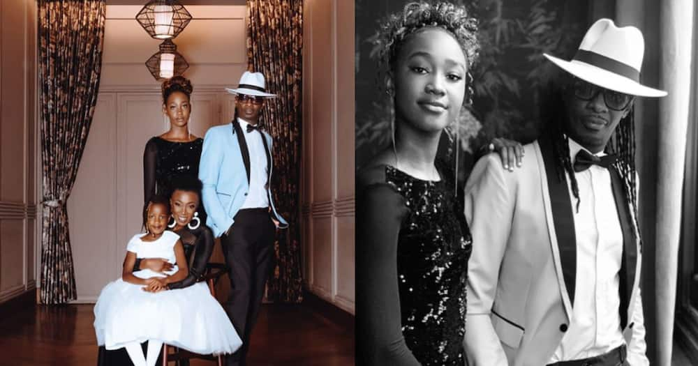 The Mathenges: Nameless, Wahu show off grown daughters in classic photoshoot