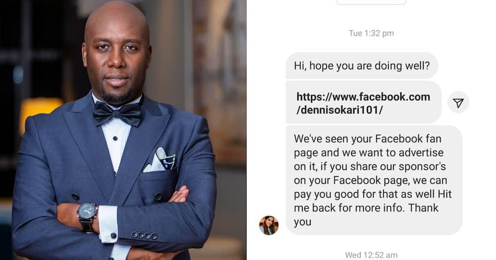 Investigative Journalist Dennis Okari Silences Daring Scammer on Social Media