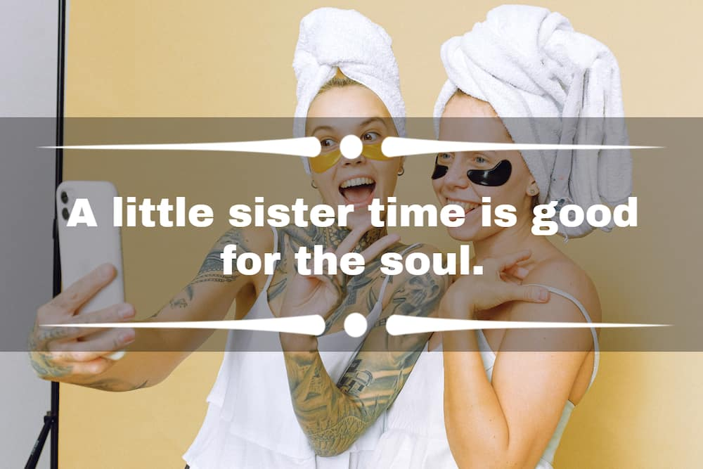 funny sister captions