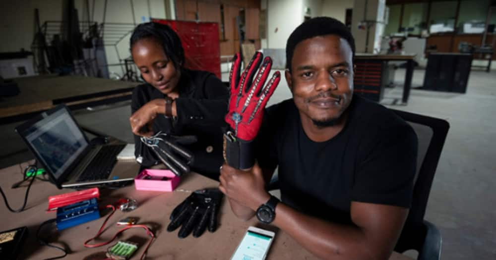 Meet the guy whose smart gloves caught President Uhuru's attention