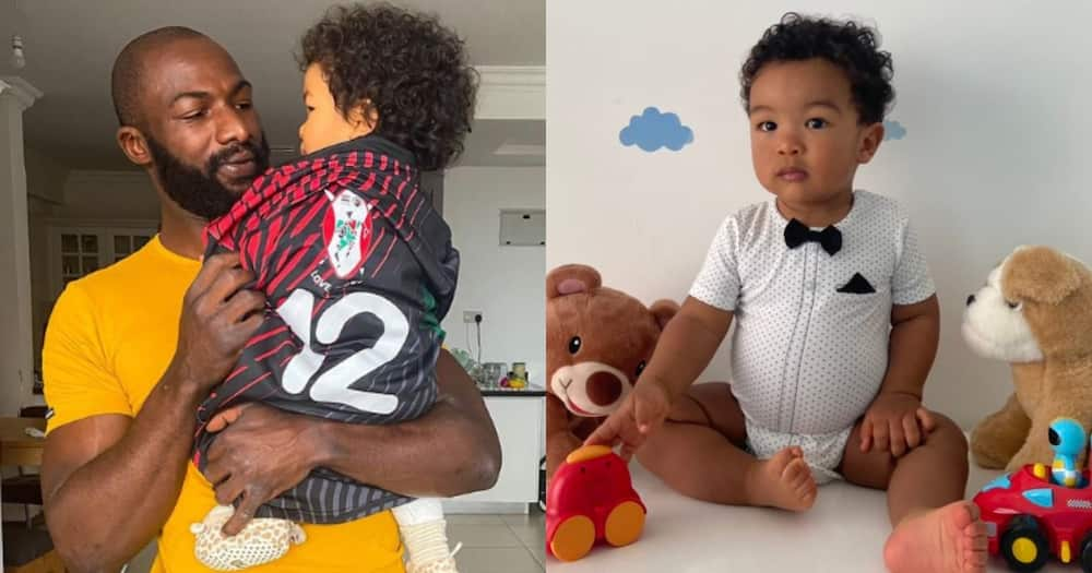 Dennis Ombachi's son turns one.