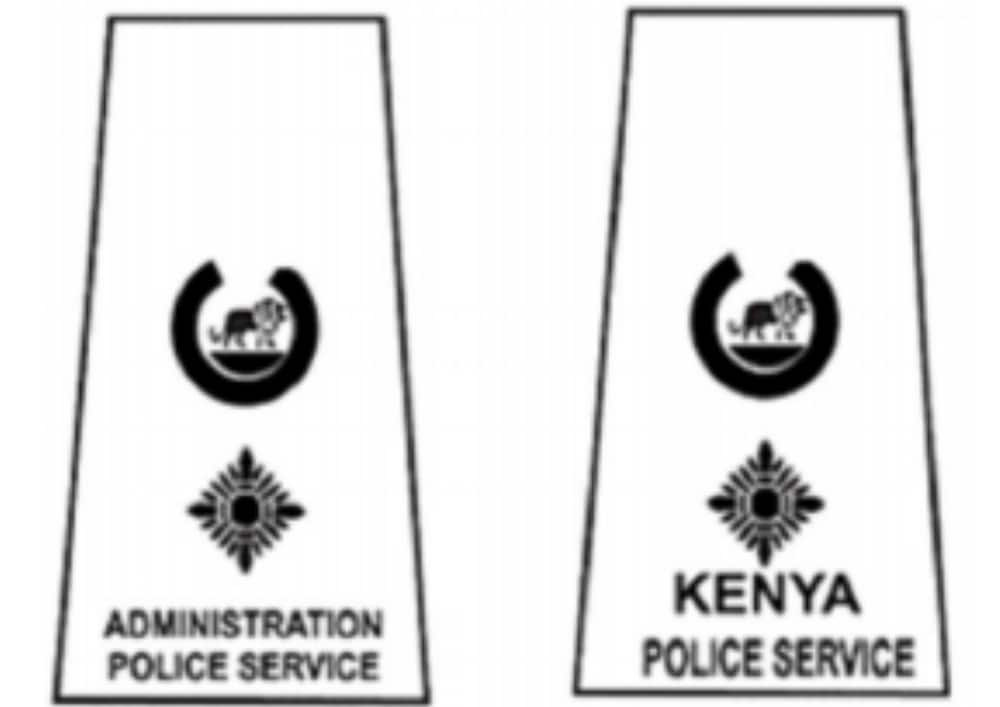 Kenya police ranks and badges from the lowest to the