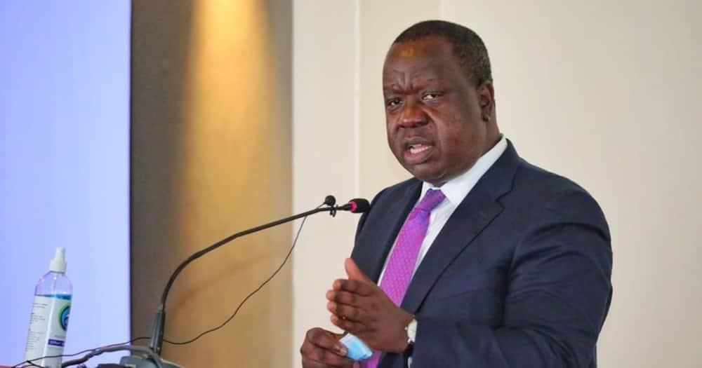Interior Cabinet Secretary Fred Matiang'i. Photo: Fred Matiang'i.