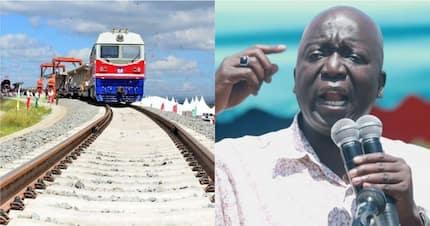 Former Gem MP Jakoyo Midiwo asks Kenyans to stop using the SGR