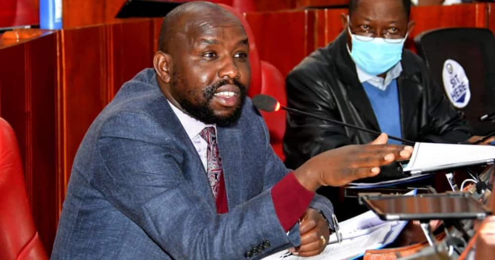Kipchumba Murkomen stands in solidarity with teary Cleophas Malala over alleged death threats