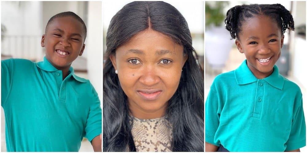 Filmmaker Mary Njoku and her children