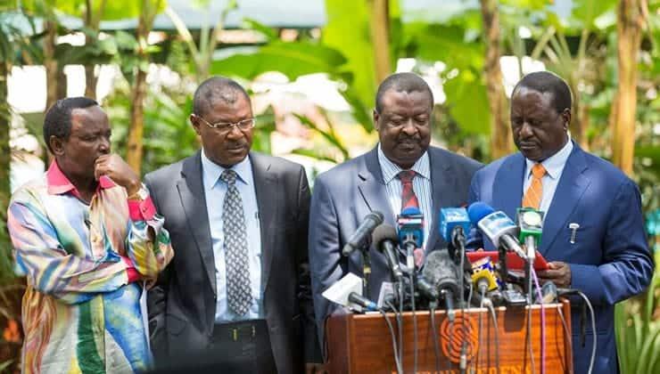 Raila's statement on refusing to endorse NASA leaders reeks of deceit, Mudavadi ▷ Tuko.co.ke