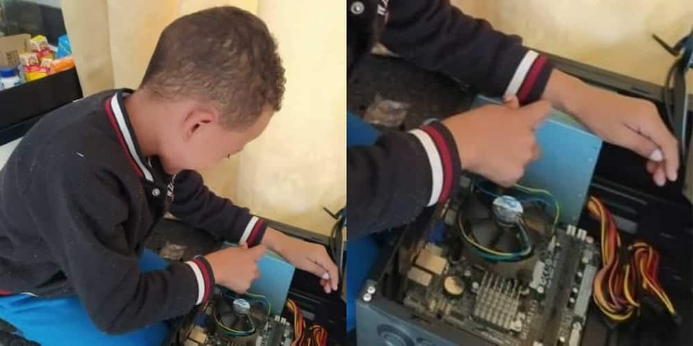 Grandpa Bursts With Pride as Grandson,7,Builds Computers From Scratch