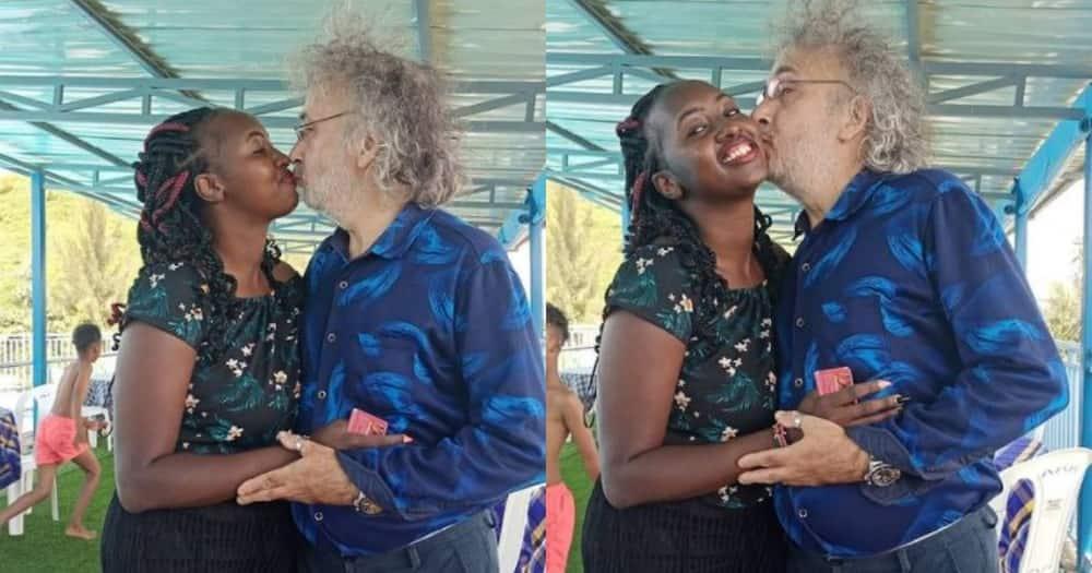 Ciru Njuguna and mzungu husband.