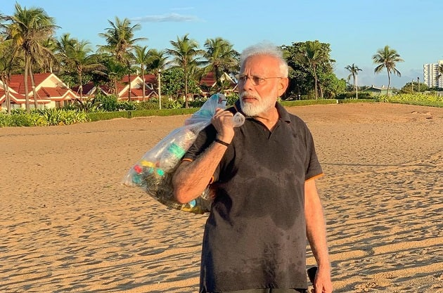 Viral video of PM Narendra Modi collecting litter along beach inspires Indians