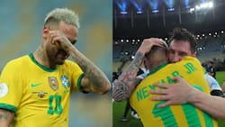 Lionel Messi Pictured Consoling Neymar after Argentina's Copa America Victory