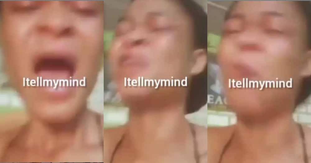 Lady weeps in video as boyfriend dumps her after she rented a room for him