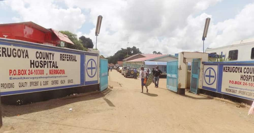 The family of a seven-month-old baby are threatening to sue Kerugoya Referral hospital. Photo: Daily Nation.