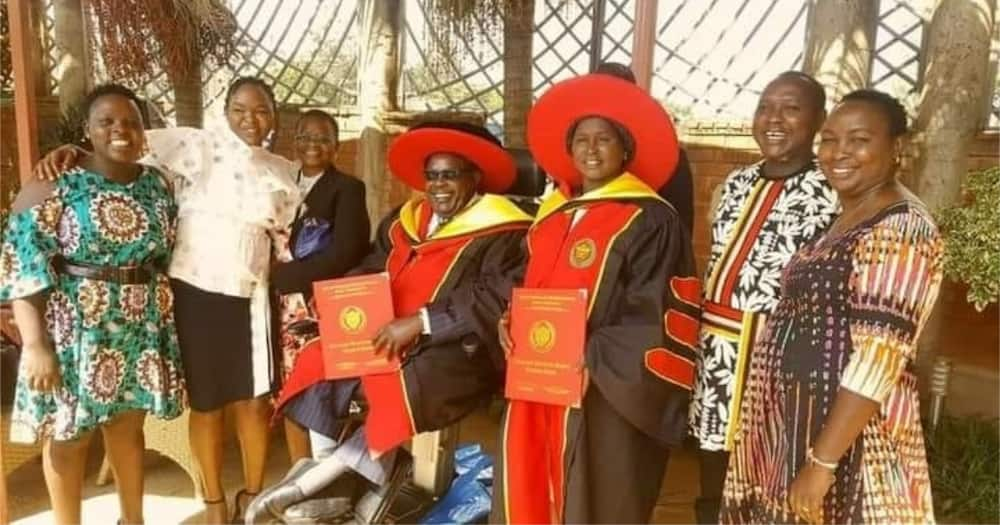 Emmy Kosgei celebrates as parents receive honorary doctorate