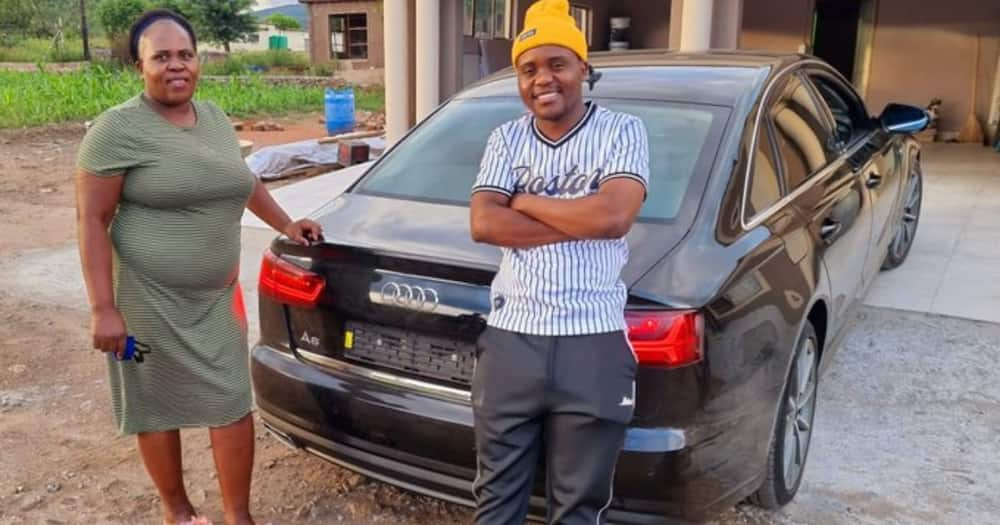 Young man buys his mum stunning Audi to thank her for keeping him in school