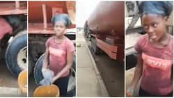 Video of Teen Lady who Washes Tankers to Support Her Studies Causes Stir Online