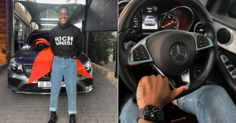 Local Man, 27, Shows Off New Merc in Stunning Viral Snaps