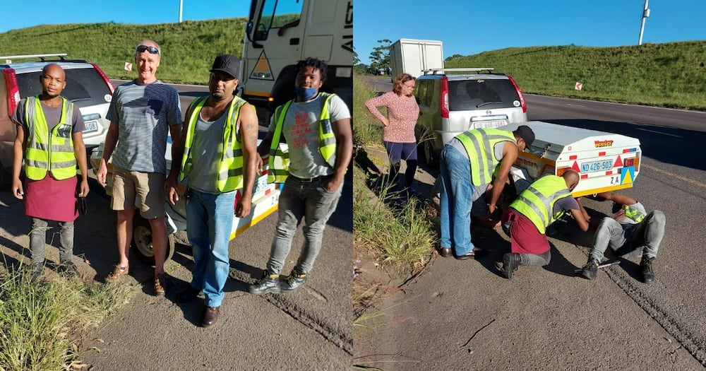 Angels in disguise: Woman thanks 3 good Samaritans who came to their rescue