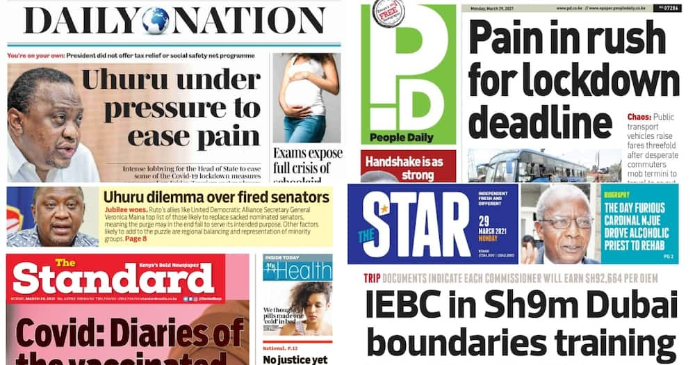 Kenyan Newspapers Review for March 29: BBI Runs Into Fresh Turbulence