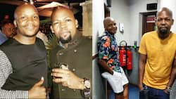 Alex Mwakideu enjoys lunch with Jalang'o days after radio host was exposed by Edgar Obare