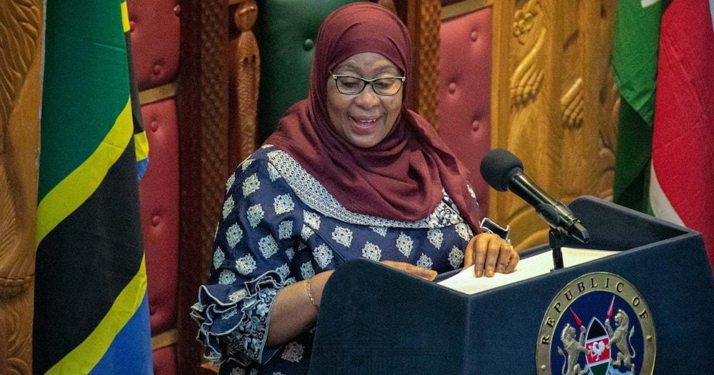 "Samia Suluhu Makes Fun of Kiswahili Usage by Kenyan MPs: Vionjo Vyake ni Burudani Tosha"""