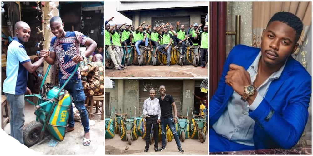 From Houseboy to Millionaire: Nigerian Man Narrates how he Made it from Wheelbarrow Business