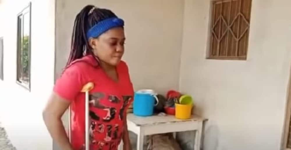 They gave my father's property to my step mum - Disabled woman cries