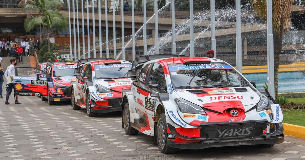Safari Rally cars.Photo: State House Kenya.