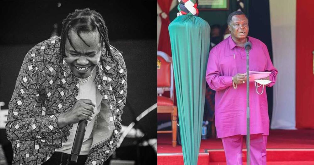 A creative Kenyan made an album cover from Atwoli's famous words, tickling Juacali.