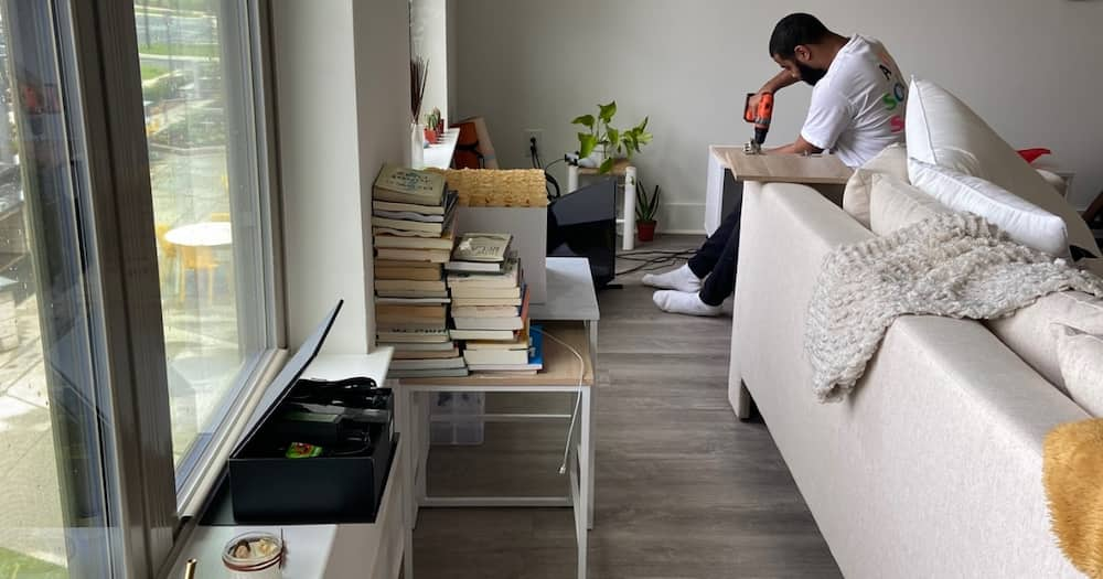 Lady Moves in With Bae She Met Online, Shares Snap of Lush Apartment