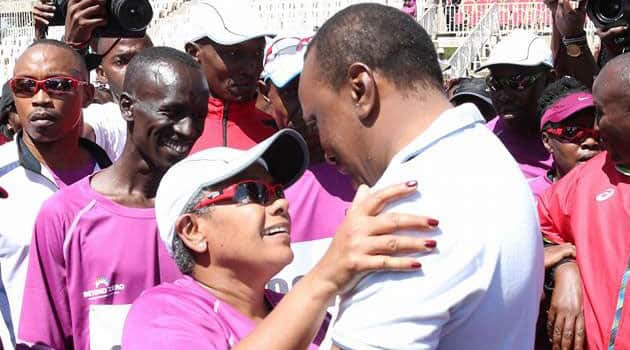 Photo of Uhuru lovingly holding hands with First Lady after Mashujaa Day celebrations warms hearts online