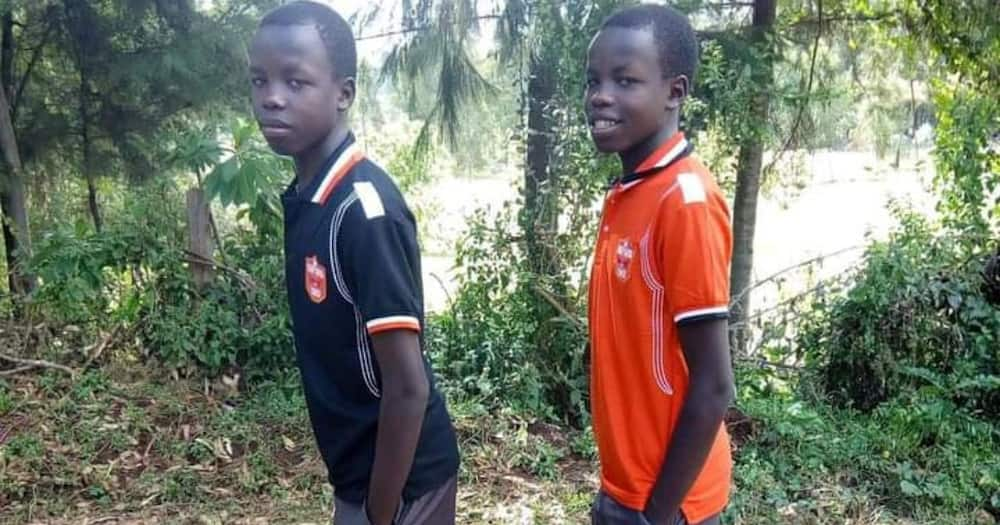 The twins were set to join university. Photo: Citizen TV.