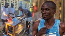 Photo of Eliud Kipchoge Making Chapati with Friends Excites Kenyans