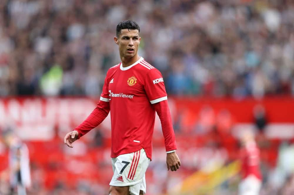 Cristiano Ronaldo during his second Manchester United debut against Newcastle United at Old Trafford. Photo by Clive Brunskill.