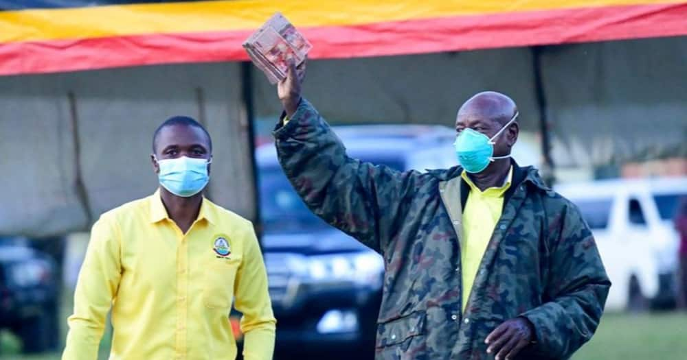 The suspect was apprehended for allegedly circulating false news regarding the death of President Yoweri Museveni (pictured). Photo: Yoweri Museveni.