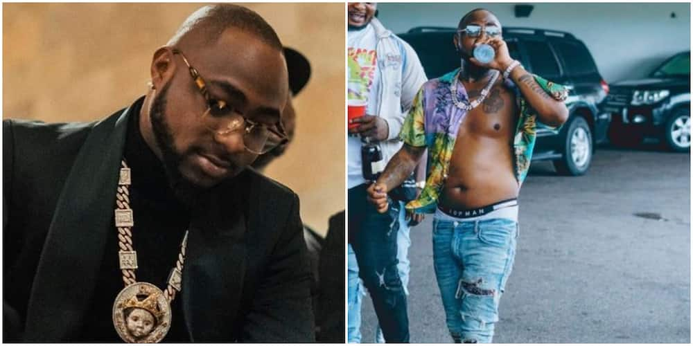 Davido says 6 packs is overrated as he shows off pot belly (photo)