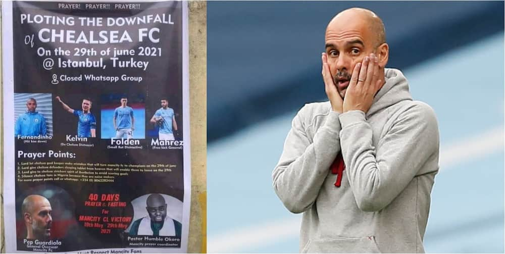 Man City Fans In Nigeria Organize 40 Days Prayer & Fasting For God's Intervention To Beat Chelsea In UCL Final