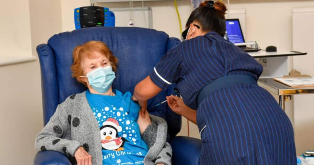 Margaret Keenan: 90-year-old woman becomes first person to receive Pfizer COVID-19 vaccine