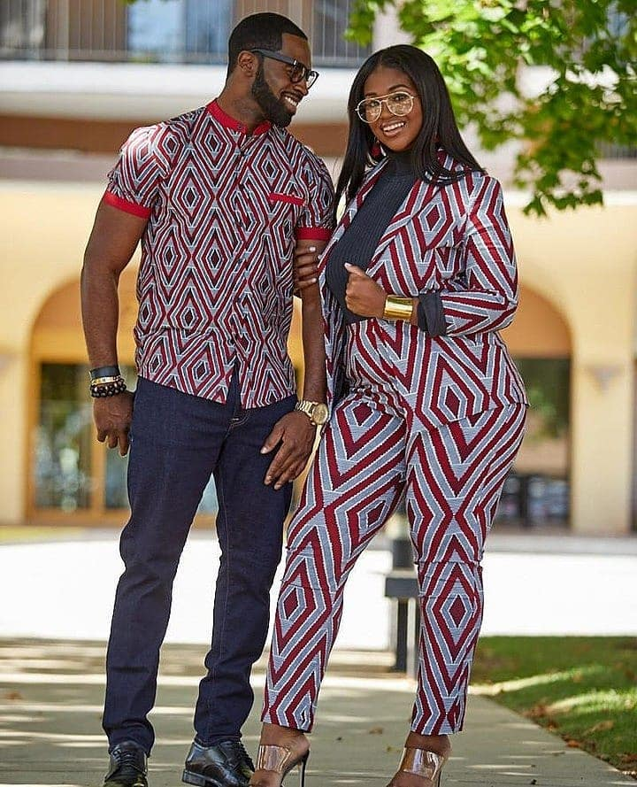 African couple dress