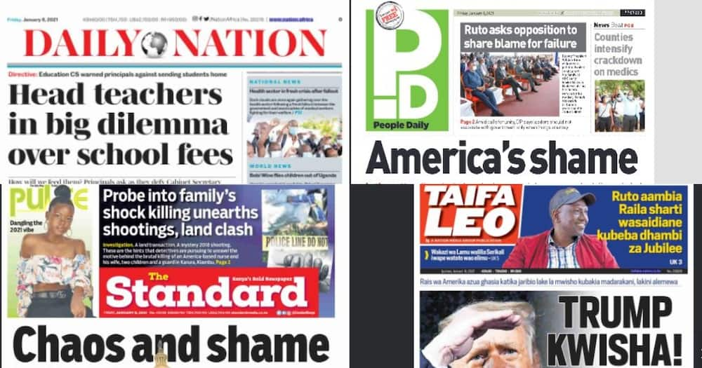 Kenyan newspapers review for January 8: Police disclose last moments of 5 family members killed in Kiambu