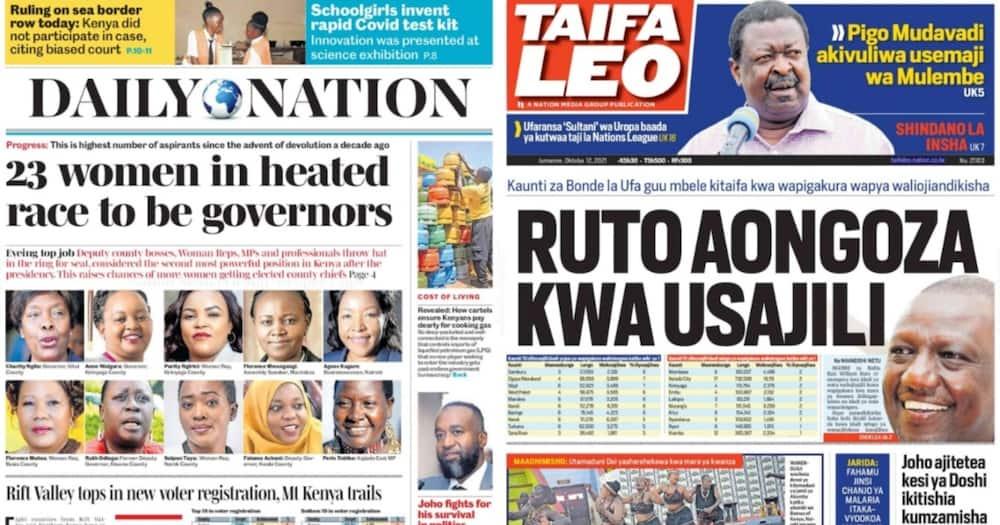 Kenyan Newspapers Review: 23 Women Warming Up for 2022 Gubernatorial Race.