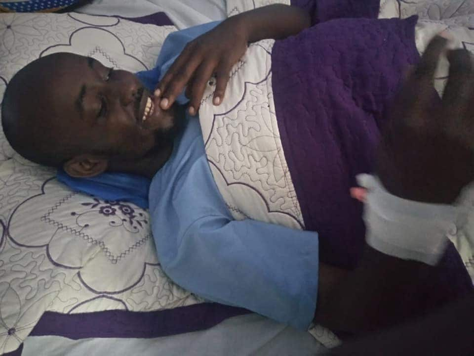Nairobi father of two appeals for help after sustaining spinal injury during accident